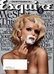 Jessica Simpson shaving on Esquire
